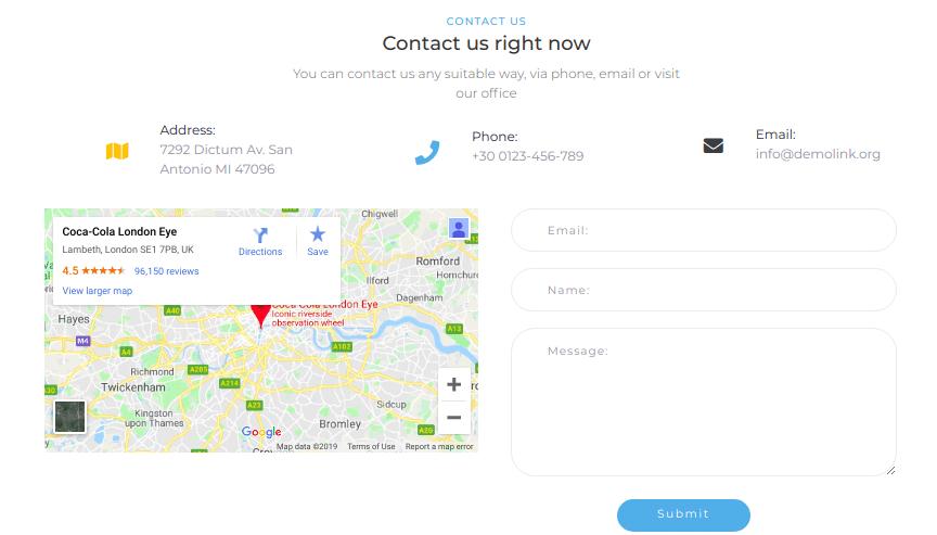 company profile - contact